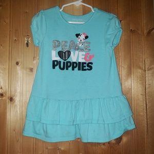 Girls puppy shirt